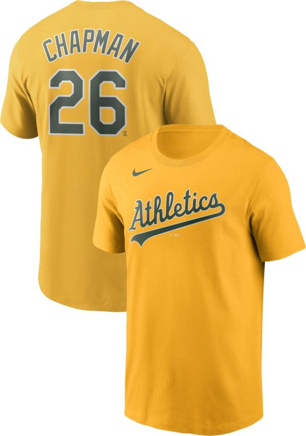 Nike Men's Oakland Athletics Matt Chapman #26 Yellow T-Shirt product image