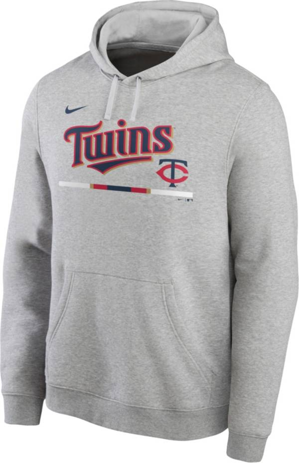 Nike Men's Minnesota Twins Grey Color Bar Club Pullover Hoodie product image
