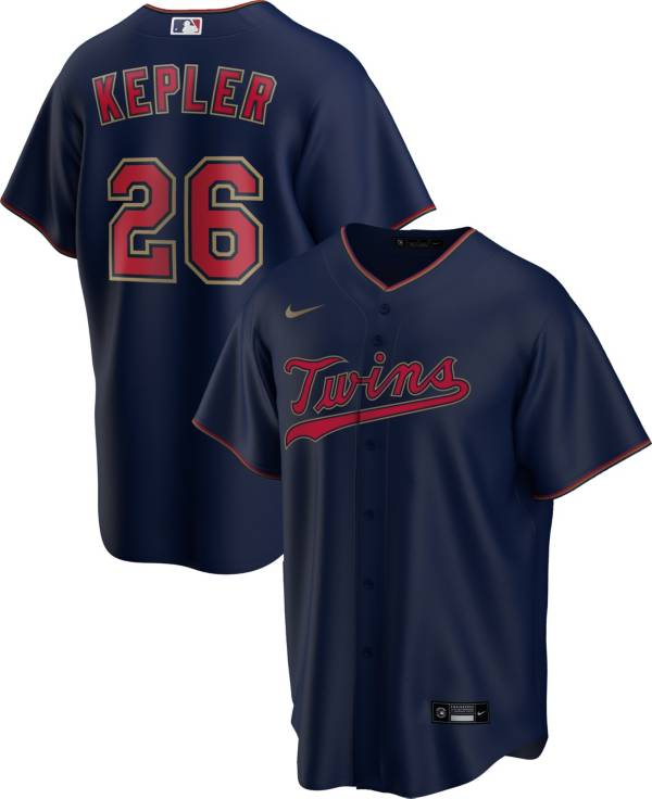 Nike Men's Replica Minnesota Twins Max Kepler #26 Navy Cool Base Jersey product image