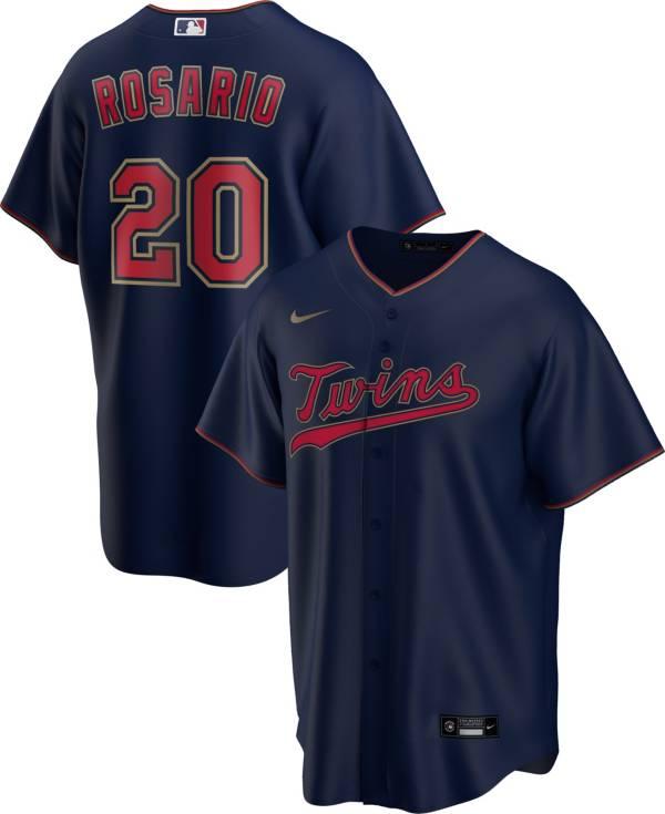 Nike Men's Replica Minnesota Twins Eddie Rosario #20 Navy Cool Base Jersey product image