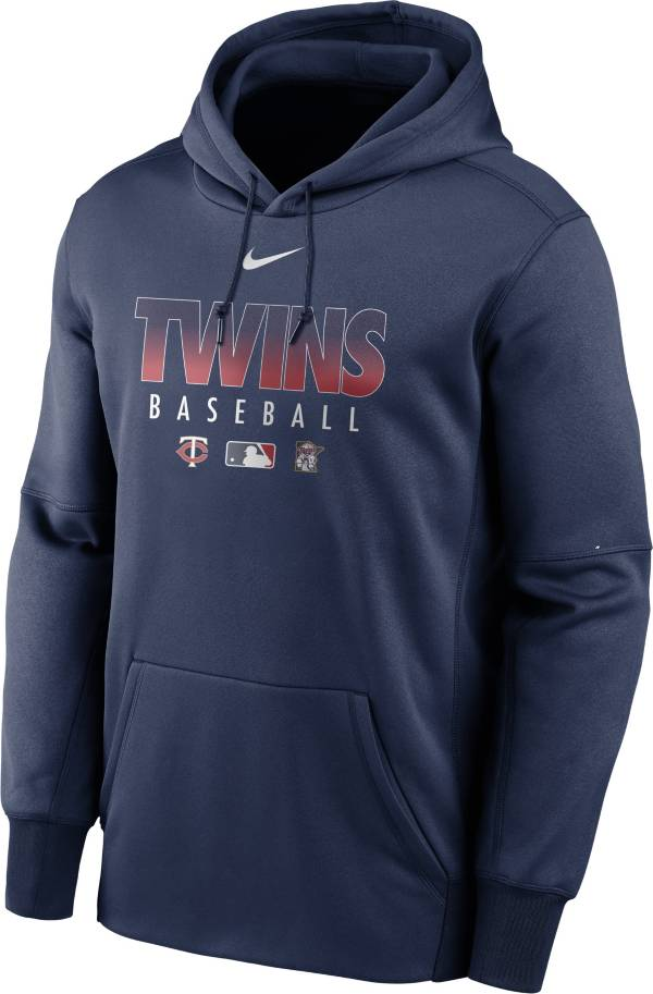 Nike Men's Minnesota Twins Navy Dri-FIT Therma Pullover Hoodie product image