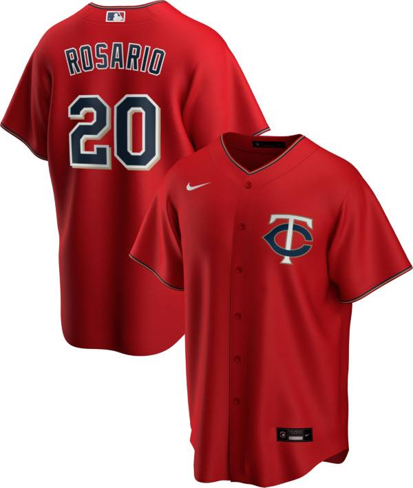 Nike Men's Replica Minnesota Twins Eddie Rosario #20 Red Cool Base Jersey product image