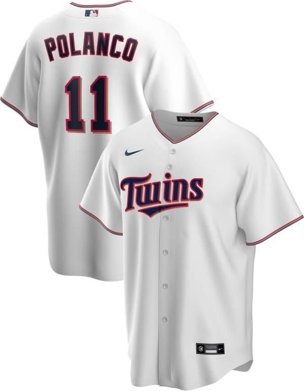 Nike Men's Replica Minnesota Twins Jorge Polanco #11 White Cool Base Jersey product image