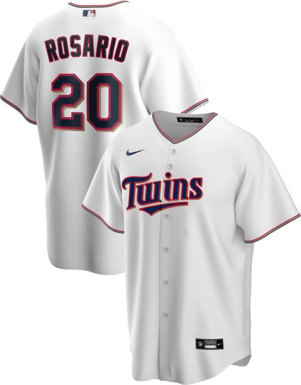 Nike Men's Replica Minnesota Twins Eddie Rosario #20 White Cool Base Jersey product image
