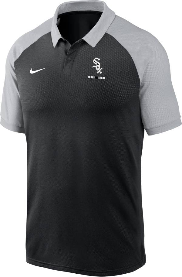 Nike Men's Chicago White Sox Black Dri-FIT Legacy Raglan Polo product image