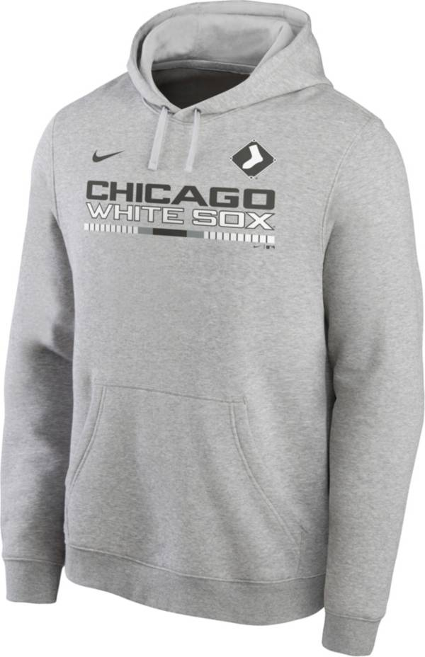 Nike Men's Chicago White Sox Grey Color Bar Club Pullover Hoodie product image