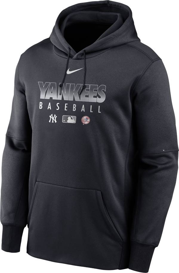 Nike Men's New York Yankees Navy Dri-FIT Therma Pullover Hoodie product image