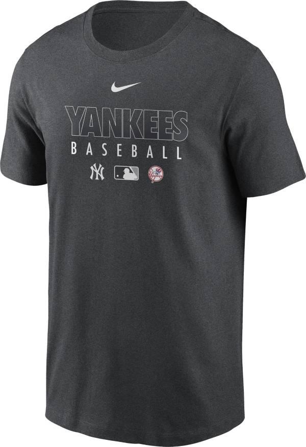 Nike Men's New York Yankees Grey Dri-FIT Baseball T-Shirt product image