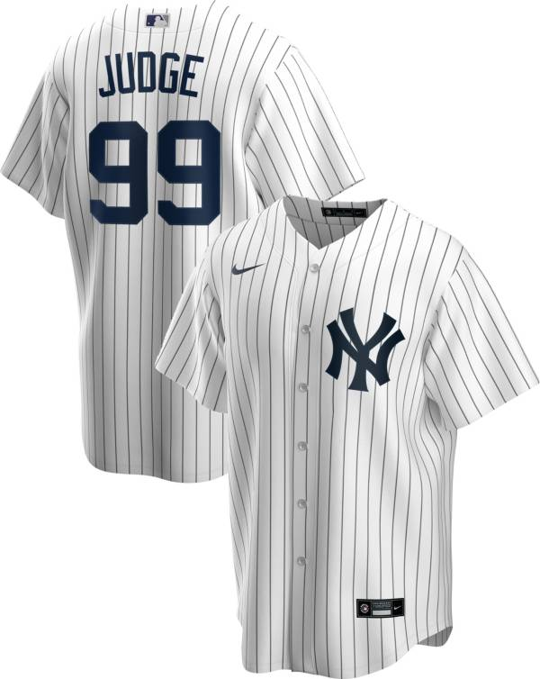 Nike Men's Replica New York Yankees Aaron Judge #99 White Cool Base Jersey product image