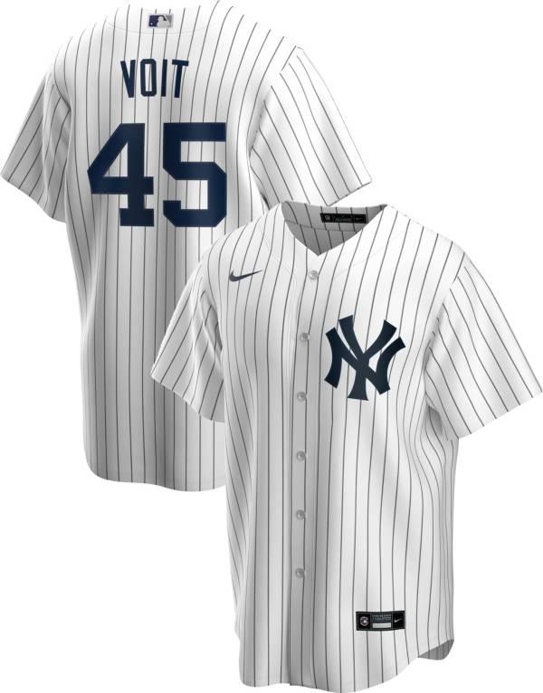 Nike Men's Replica New York Yankees Luke Voit #45 White Cool Base Jersey product image