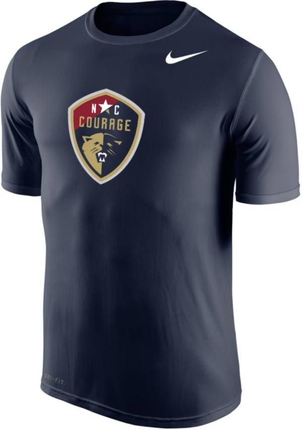 Nike Men's North Carolina Courage Primary Logo Navy Tri-Blend T-Shirt product image