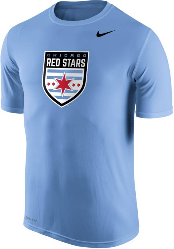 Nike Men's Chicago Red Stars Primary Logo Blue Tri-Blend T-Shirt product image