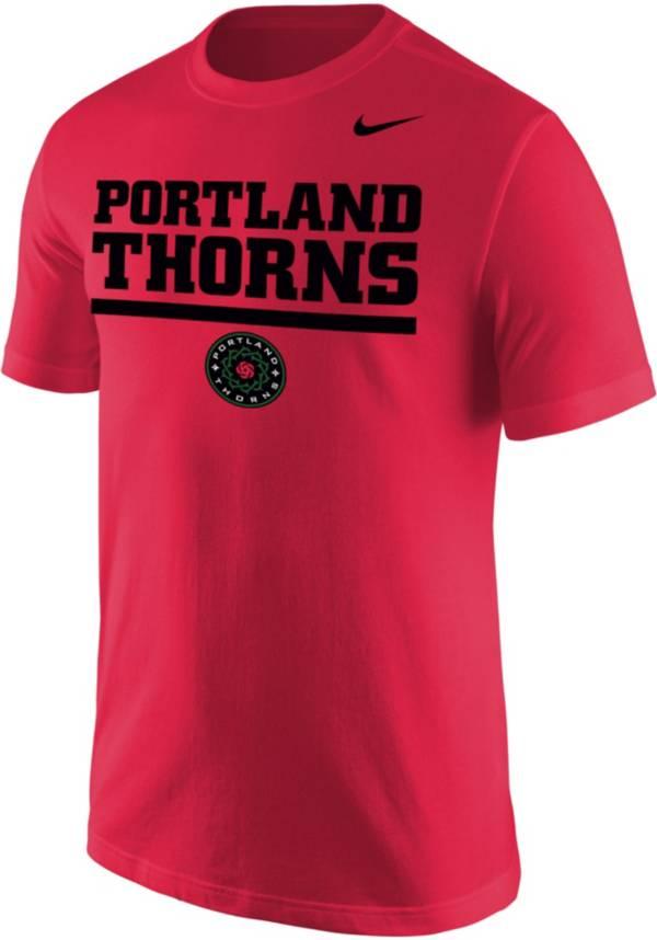 Nike Men's Portland Thorns Wordmark Red T-Shirt product image