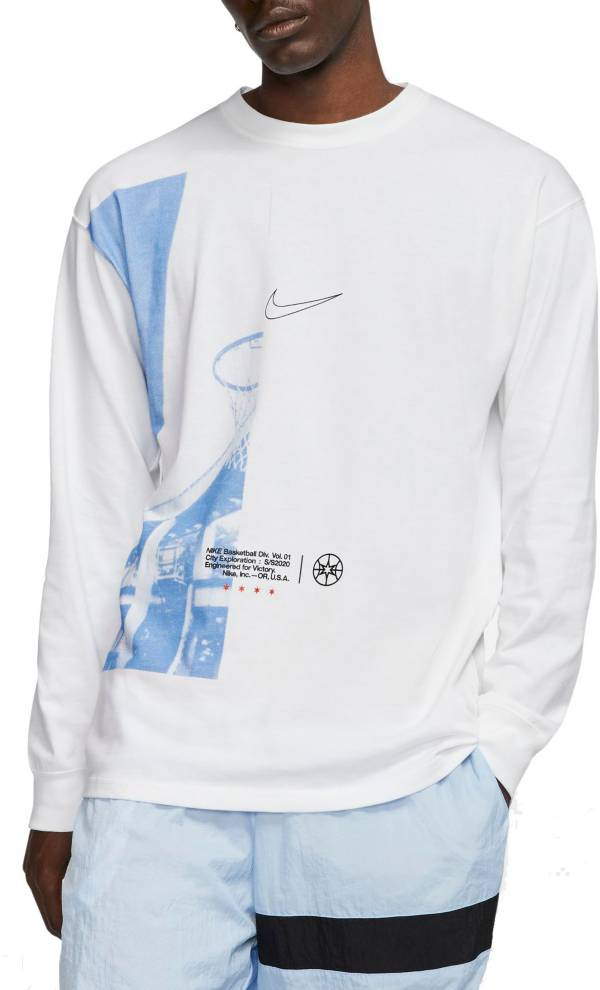 Nike Men's DNA Basketball Chicago Graphic Long Sleeve Shirt product image
