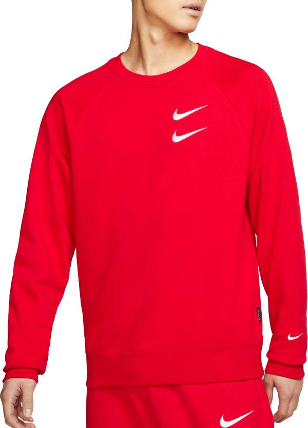 Nike Men's Sportswear Double Swoosh French Terry Crewneck Sweatshirt product image