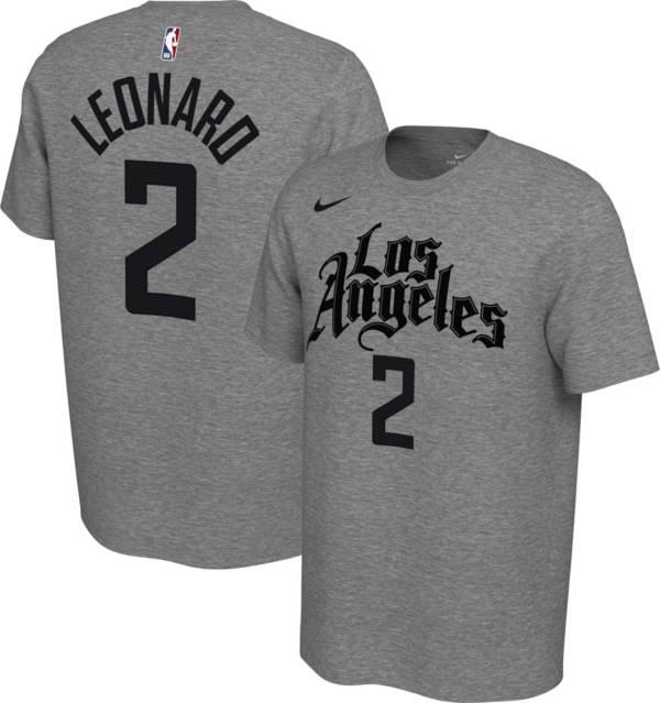 Nike Men's Los Angeles Clippers Kawhi Leonard #2 Dri-FIT Grey City Edition T-Shirt product image