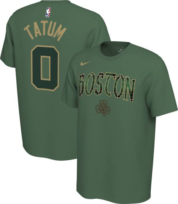 Nike Men's Boston Celtics Jayson Tatum #0 Dri-FIT Green Earned Edition T-Shirt product image