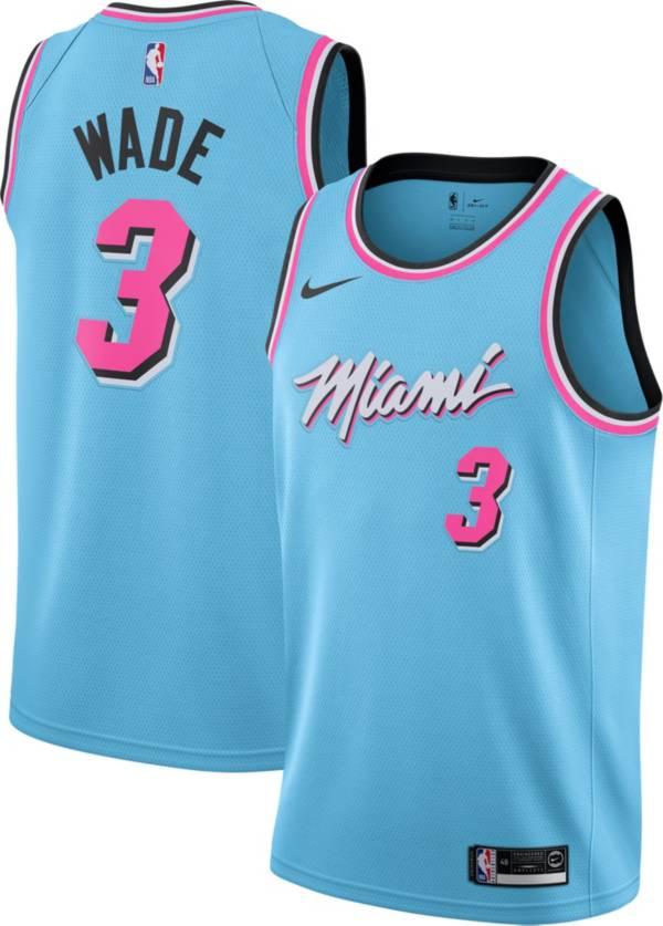 Nike Men S Miami Heat Dwyane Wade Dri Fit City Edition Swingman Jersey Dick S Sporting Goods