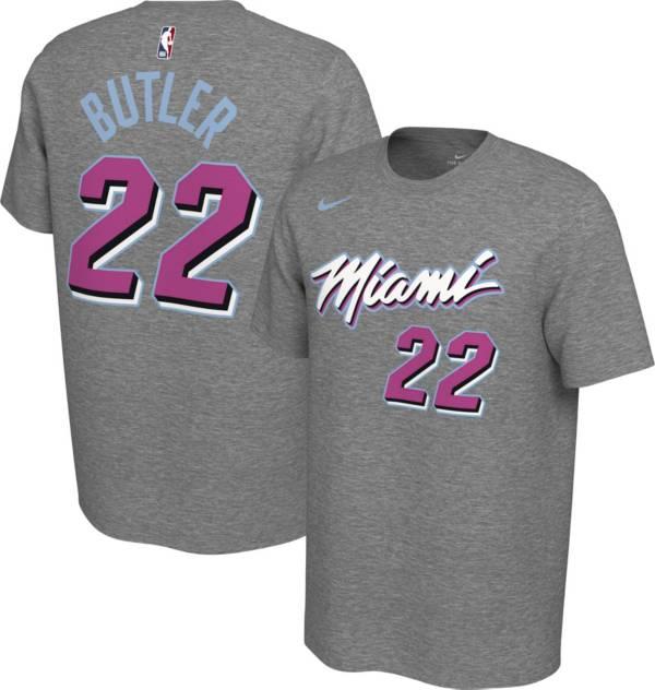 Nike Men S Miami Heat Jimmy Butler 22 Dri Fit Grey City Edition T Shirt Dick S Sporting Goods
