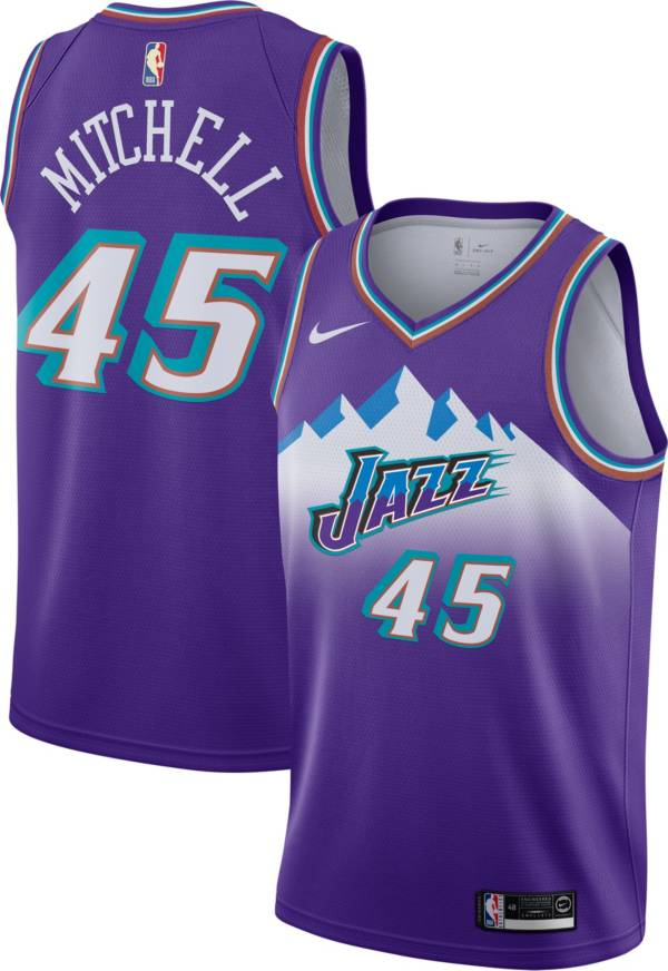 Nike Men's Utah Jazz Donovan Mitchell #45 Hardwood Classic Dri-FIT Swingman Jersey product image