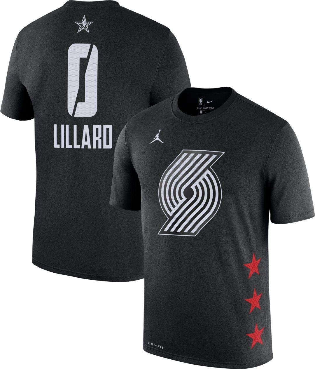 save off 3e8f9 f0c42 Jordan Men s 2019 NBA All-Star Game Damian Lillard Dri-FIT Black T-Shirt    DICK S Sporting Goods