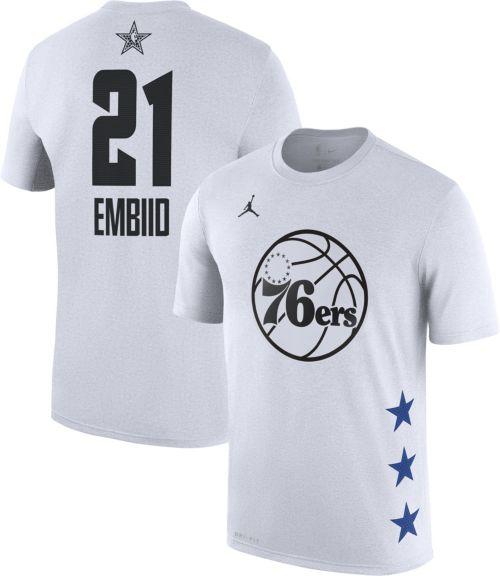 8657f238b5dc88 Jordan Men s 2019 NBA All-Star Game Joel Embiid Dri-FIT White T-Shirt