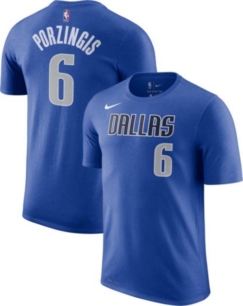 Nike Men s Dallas Mavericks Kristaps Porzingis  6 Dri-FIT Blue T ... 6d2a8e291