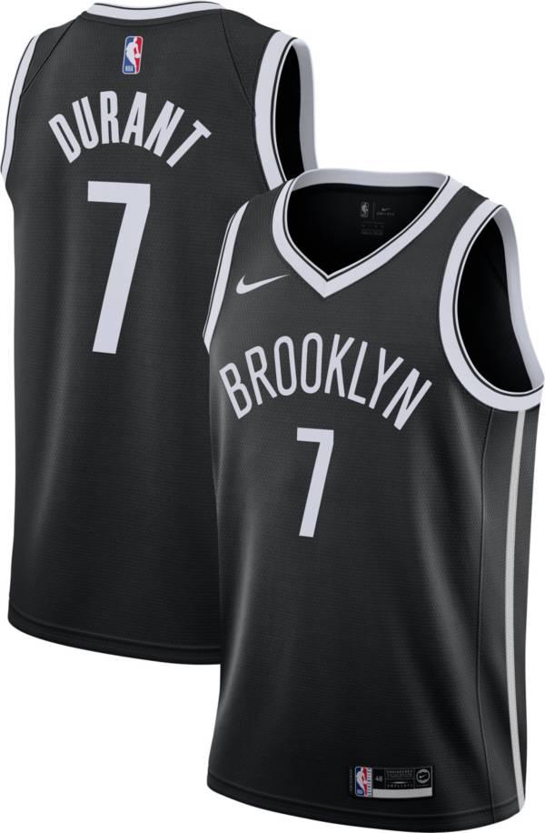 Nike Men's Brooklyn Nets Kevin Durant #7 Black Dri-FIT Swingman Jersey product image