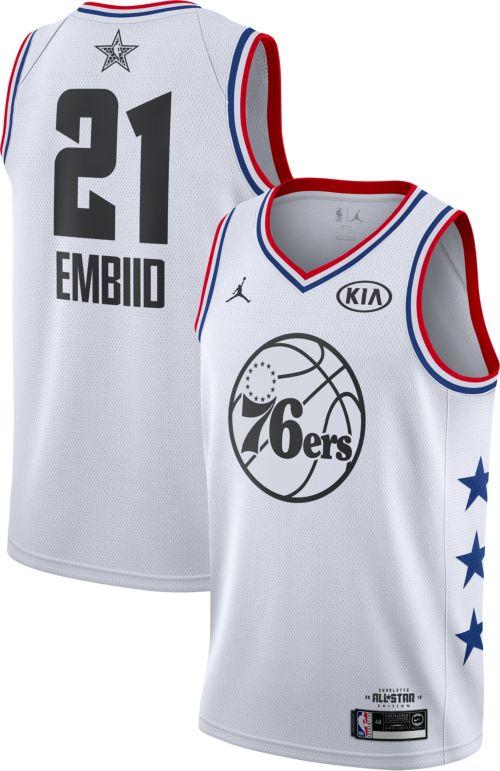 80c76e0d3eed23 Jordan Men s 2019 NBA All-Star Game Joel Embiid White Dri-FIT Swingman  Jersey. noImageFound. Previous