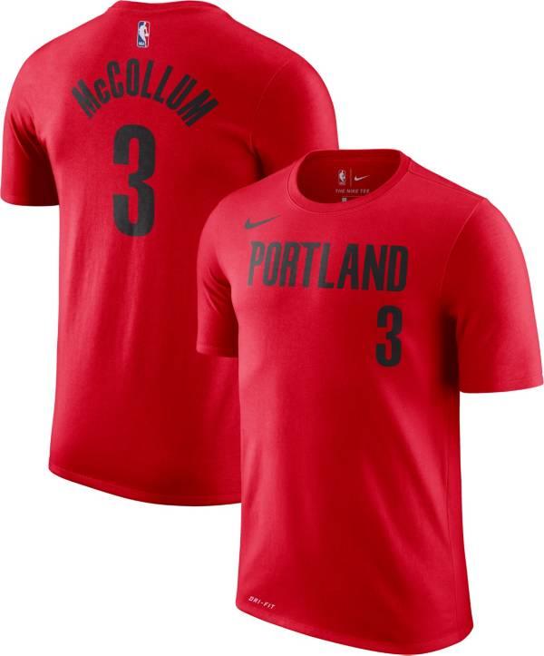 Nike Men's Portland Trail Blazers C.J. McCollum #3 Dri-FIT Statement Red T-Shirt product image