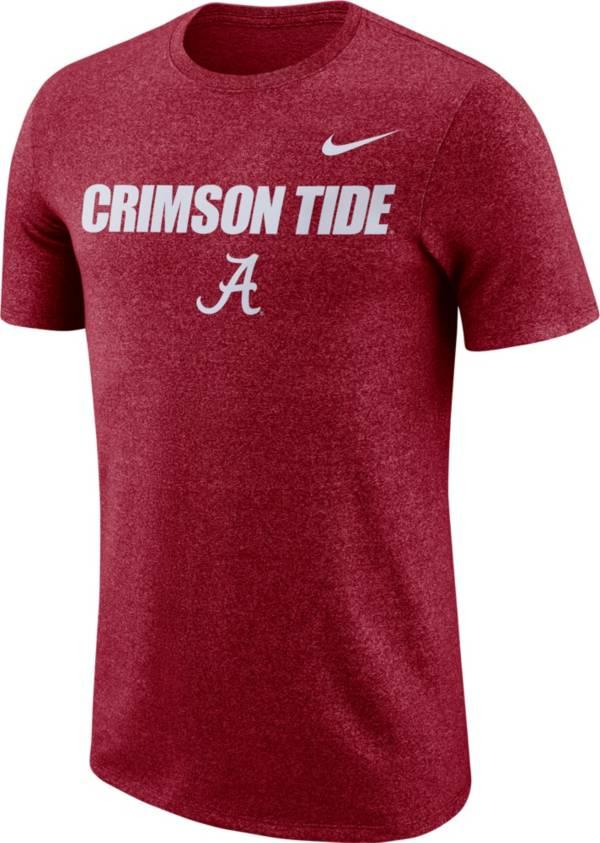 Nike Men's Alabama Crimson Tide Crimson Marled Logo T-Shirt product image