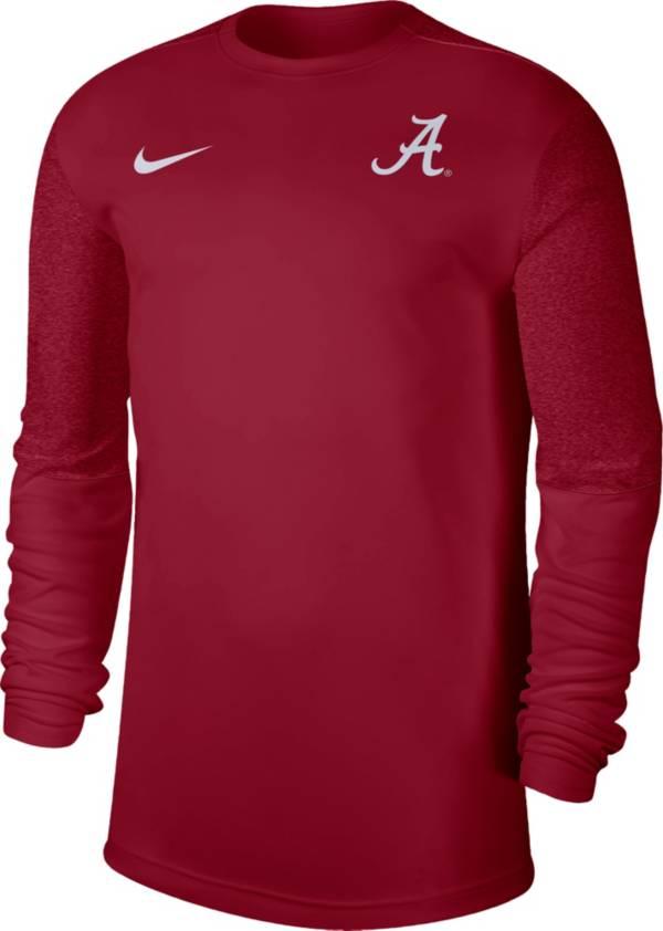 Nike Men's Alabama Crimson Tide Crimson Top Coach UV Football Long Sleeve T-Shirt product image