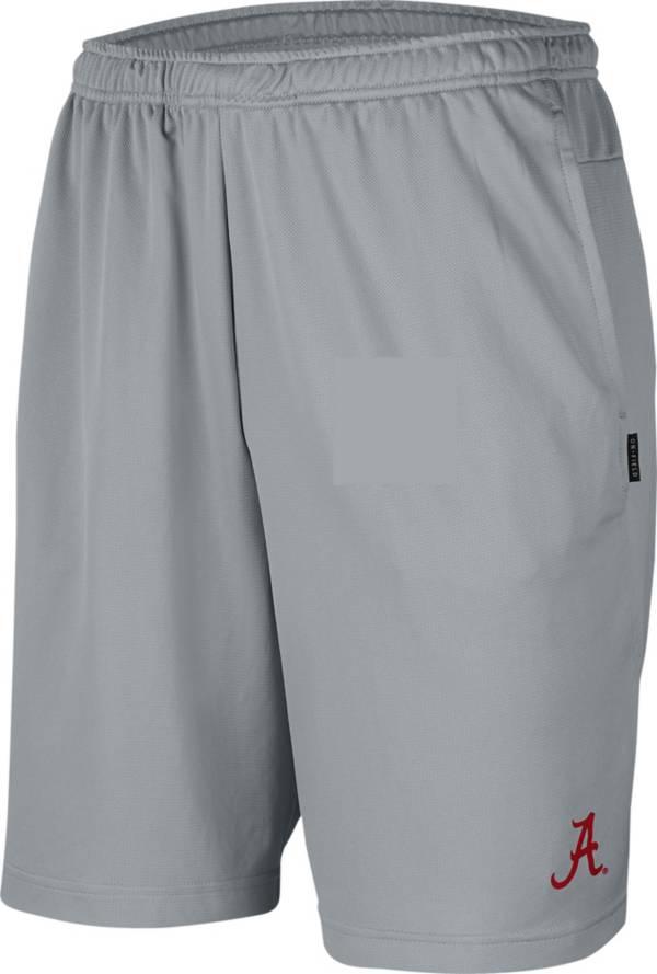 Nike Men's Alabama Crimson Tide Grey Dri-FIT Coach Shorts product image