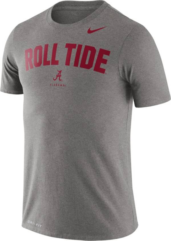 Nike Men's Alabama Crimson Tide Grey Dri-FIT 'Roll Tide' T-Shirt product image