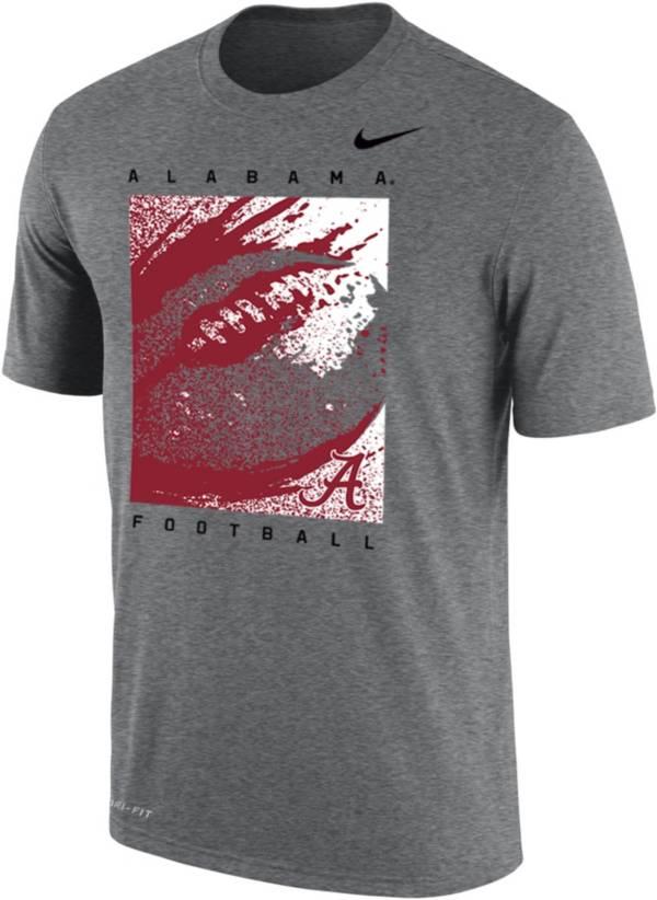 Nike Men's Alabama Crimson Tide Grey Dri-FIT Cotton Football T-Shirt product image