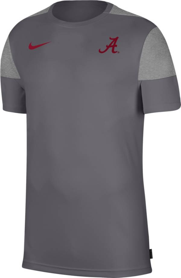 Nike Men's Alabama Crimson Tide Grey Top Coach UV T-Shirt product image
