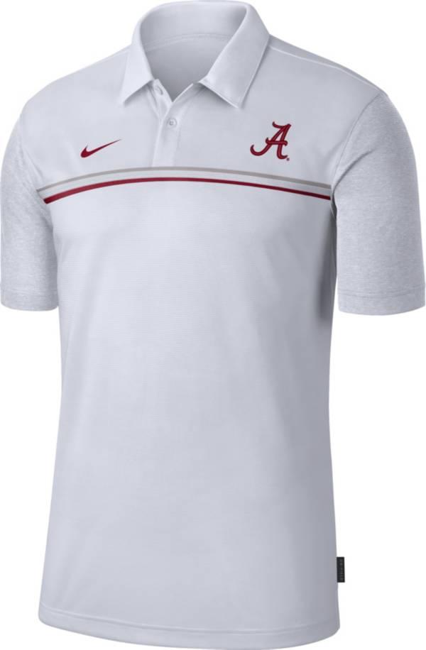 Nike Men's Alabama Crimson Tide Dri-FIT Football Sideline White Polo product image