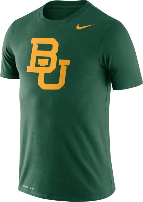 Nike Men's Baylor Bears Green Logo Dry Legend T-Shirt product image