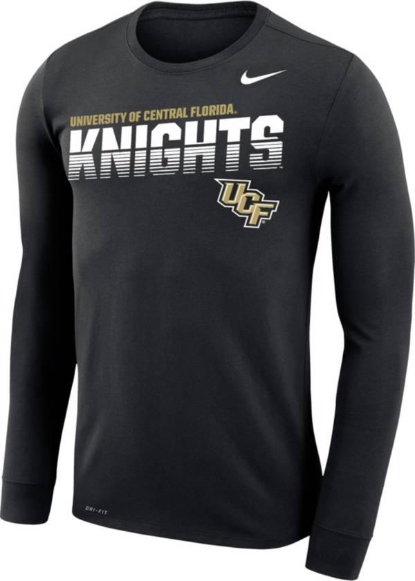 Nike Men's UCF Knights Legend Football Sideline Long Sleeve Black T-Shirt product image