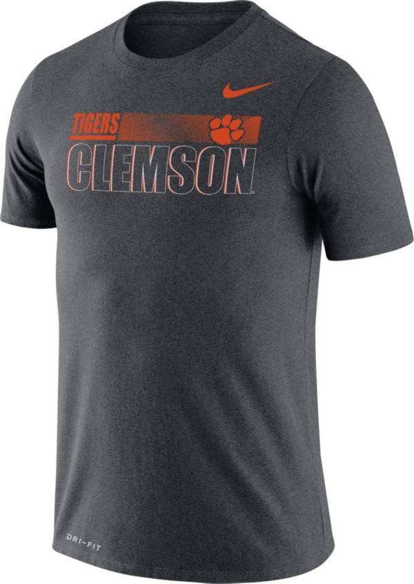 Nike Men's Clemson Tigers Grey Legend Team Issue Football T-Shirt product image