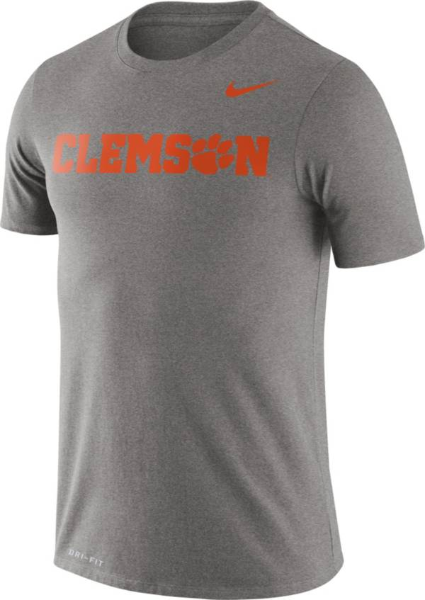 Nike Men's Clemson Tigers Grey Dri-FIT Legend Word T-Shirt product image