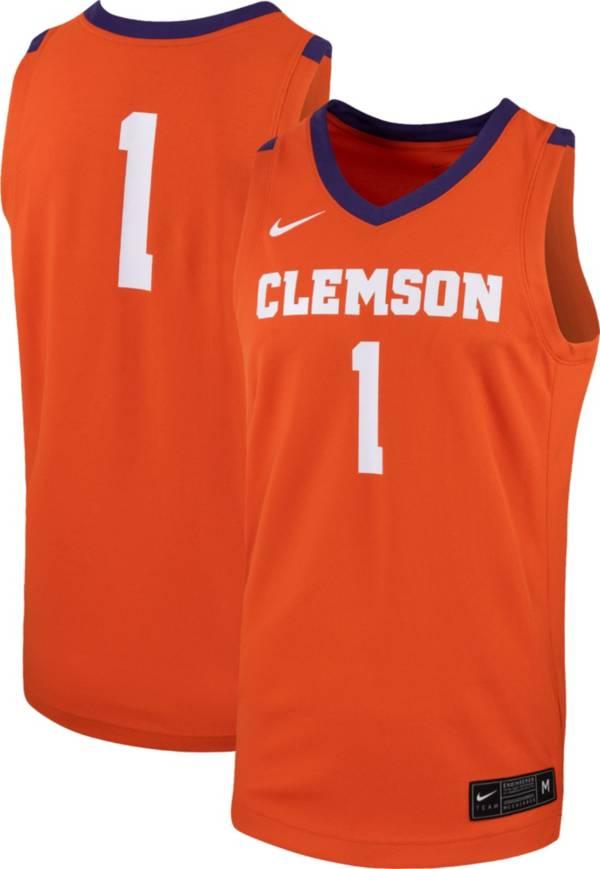 Nike Men's Clemson Tigers #1 Orange Replica Basketball Jersey product image