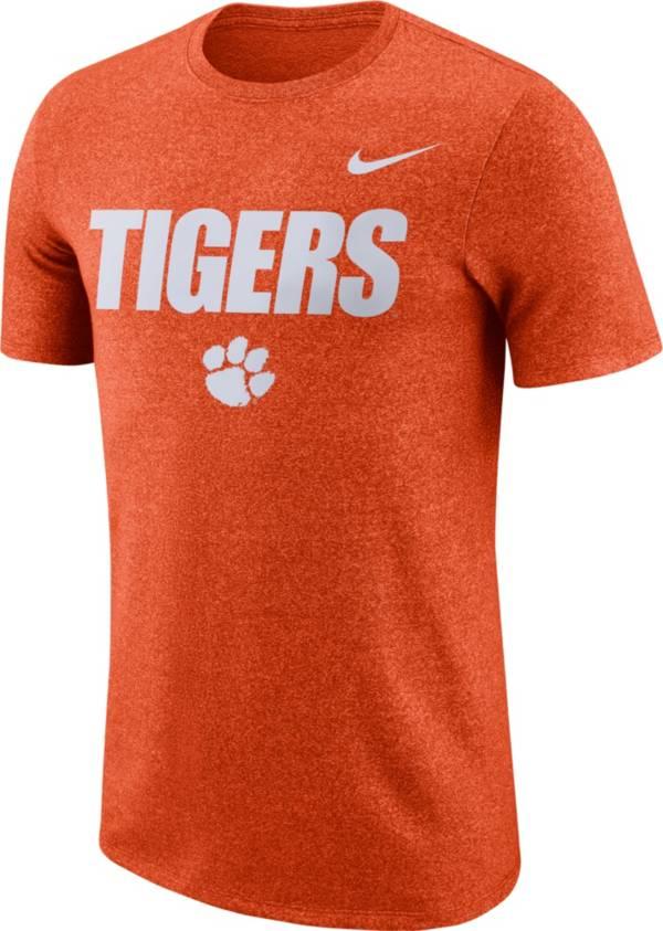 Nike Men's Clemson Tigers Orange Marled Logo T-Shirt product image