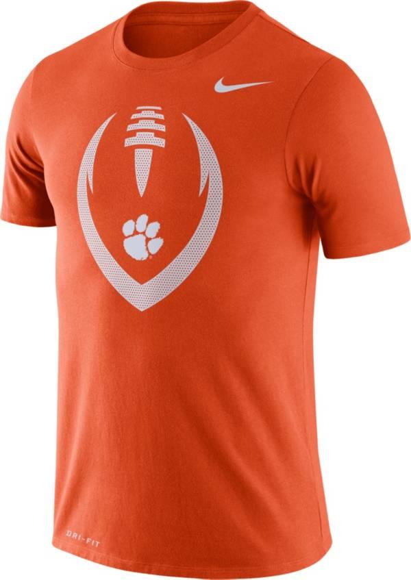 Nike Men's Clemson Tigers Orange Legend Football Icon T-Shirt product image