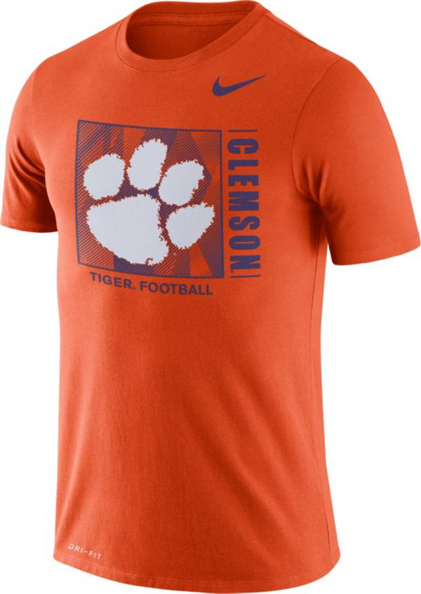 Nike Men's Clemson Tigers Orange Team Issue Logo Football T-Shirt product image