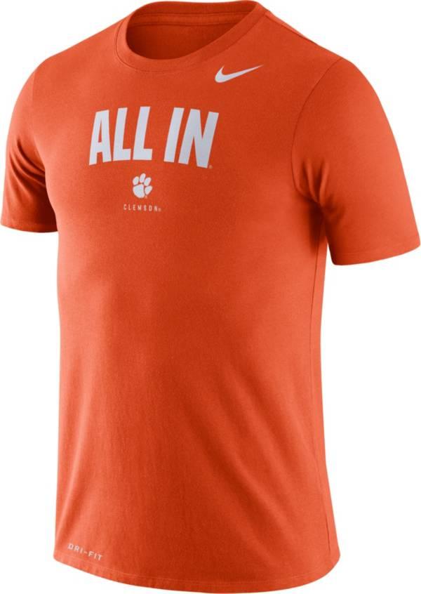 Nike Men's Clemson Tigers Orange Dri-FIT 'All In' T-Shirt product image