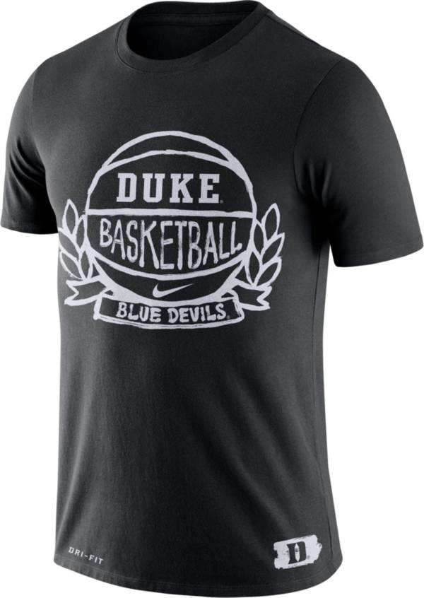 Nike Men's Duke Blue Devils Dry Crest Basketball Black T-Shirt product image