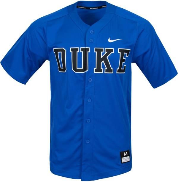 Nike Men's Duke Blue Devils Duke Blue Full Button Replica Baseball Jersey product image