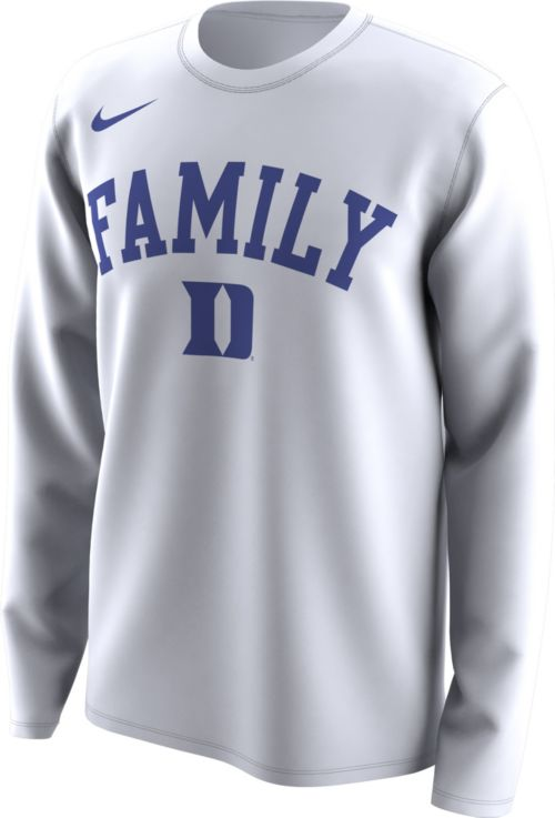 19ca62aa Nike Men's Duke Blue Devils 'Family' Bench Long Sleeve White T-Shirt ...