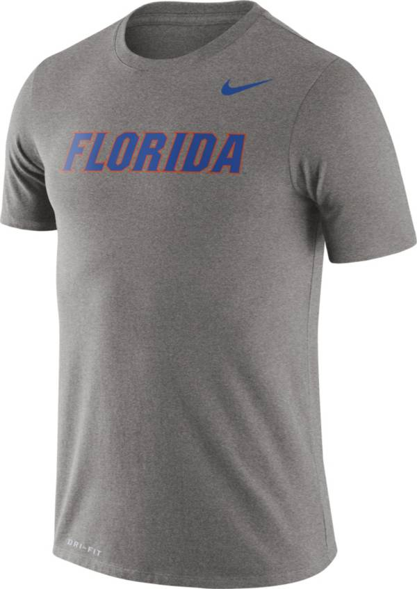 Nike Men's Florida Gators Grey Dri-FIT Legend Word T-Shirt product image